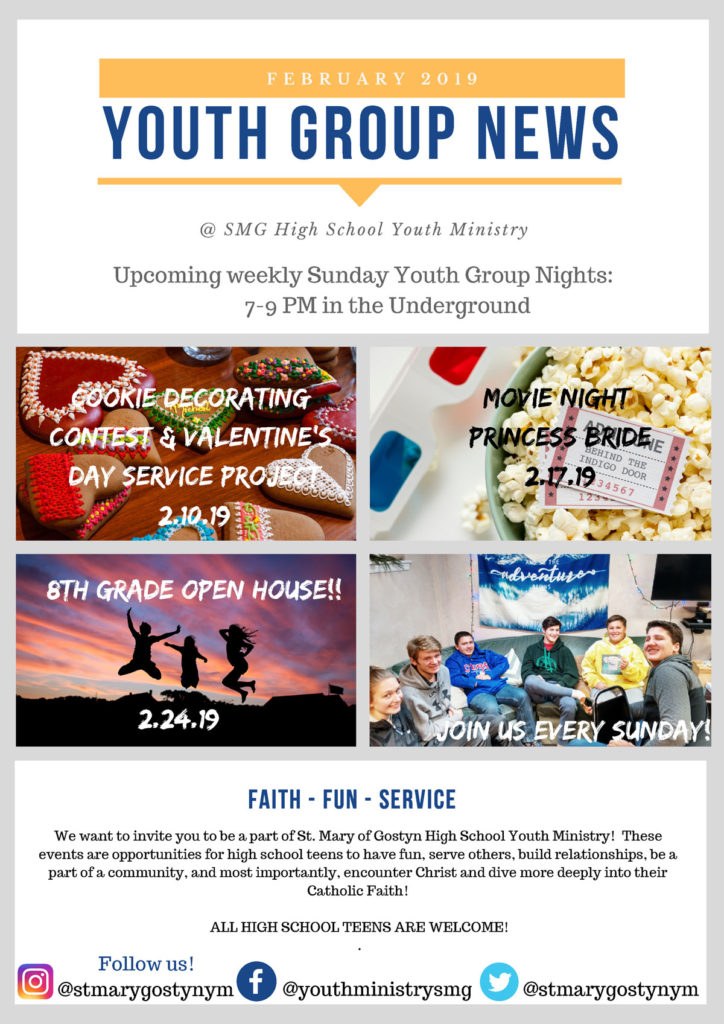 Young adult ministry flyer bonfire
