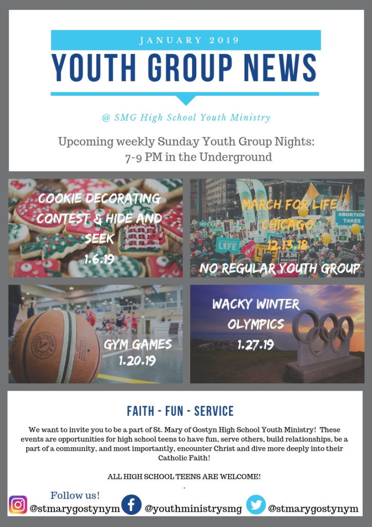 Youth Group Nights - January 1