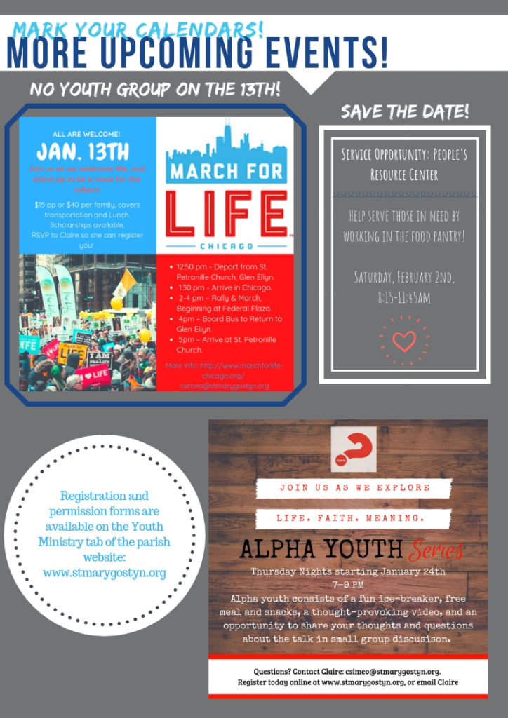 Youth Group Nights - January 2