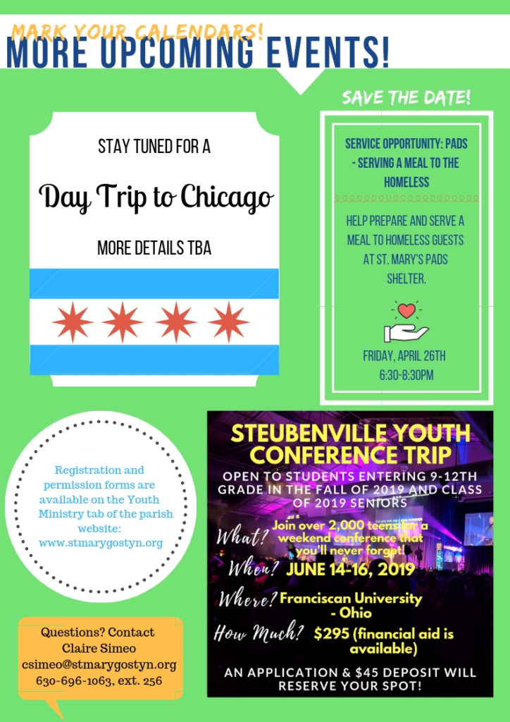 Youth Groups Events