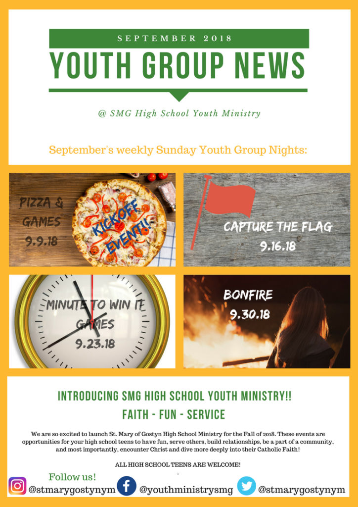Youth Group Nights - September 1